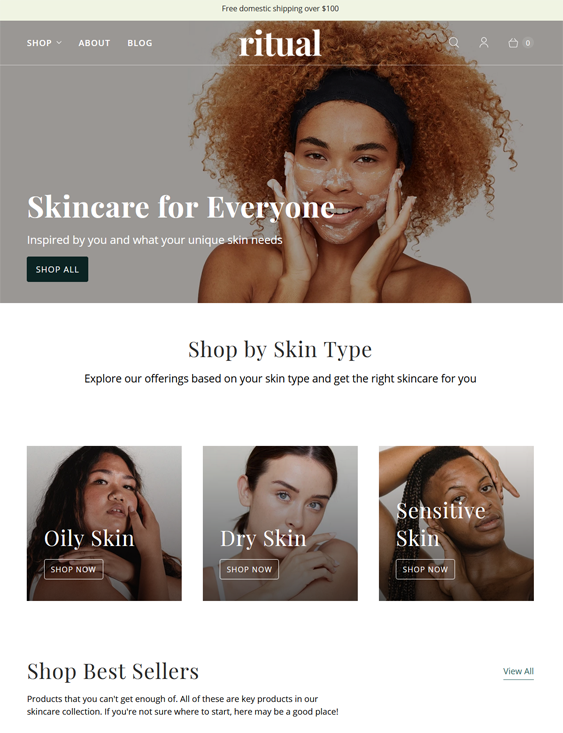 Shopify Themes For Selling Clean Beauty Products