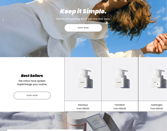 Shopify Themes For Skincare Stores feature