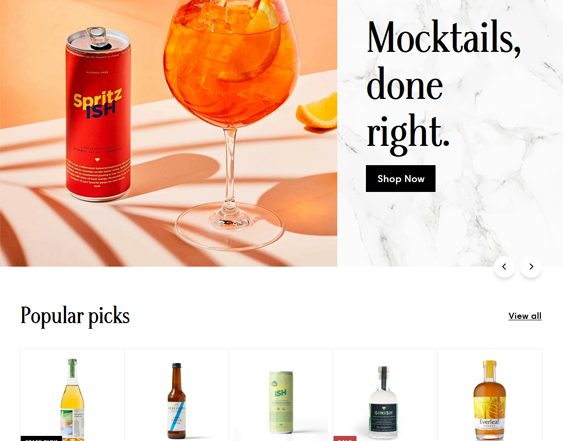 Shopify Themes For Online Drink And Beverage Stores feature