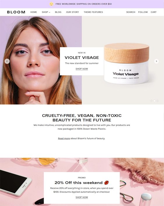 Shopify Themes For Skincare Stores