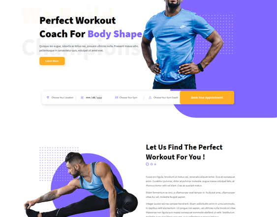 Gym And Fitness WordPress Themes feature
