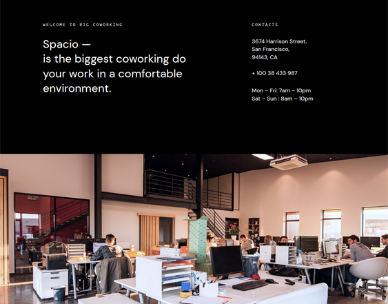 Coworking WordPress Themes For Shared Office Spaces feature