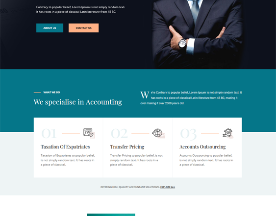 Financial WordPress Themes feature