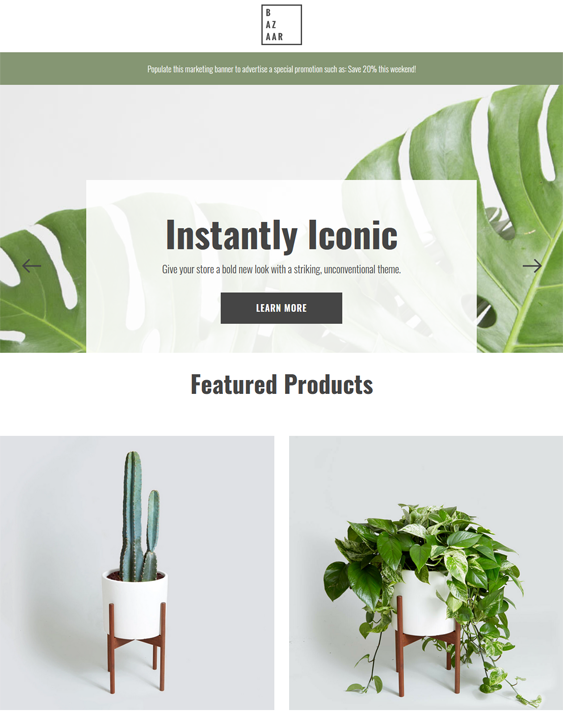 BigCommerce Themes For Selling Plants And Flowers feature