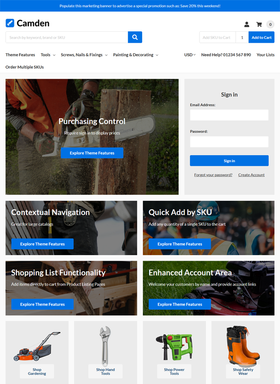 BigCommerce Themes For Tool And Hardware Stores feature