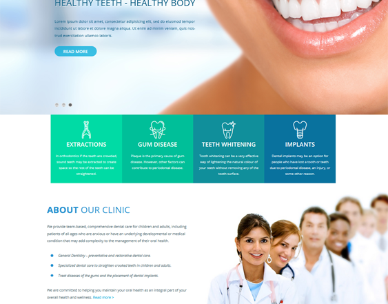 This medical WordPress theme feature