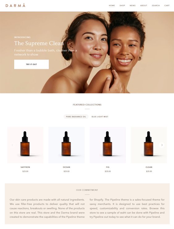 Shopify Themes For Selling Clean Beauty Products feature