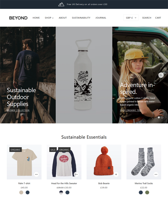 Shopify Themes For Hiking And Camping Equipment And Outdoor Goods feature