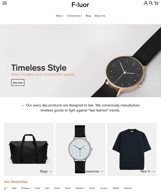Men's Fashion Shopify Themes For Selling Clothing And Accessories