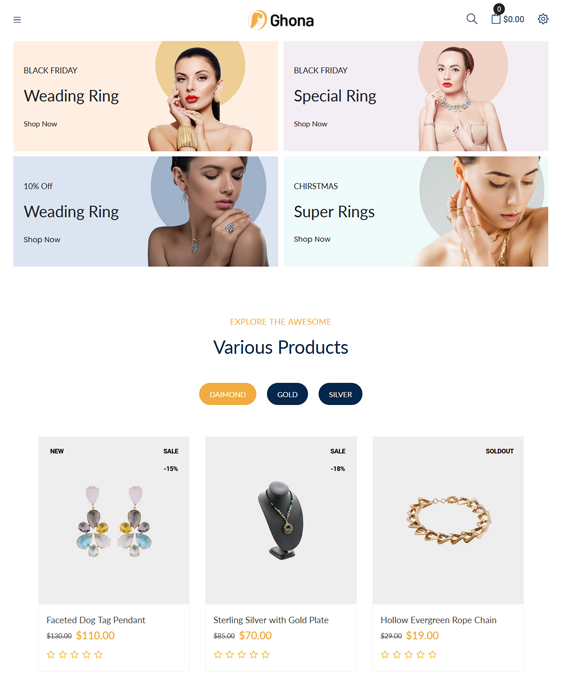 Shopify Themes For Online Jewelry Stores