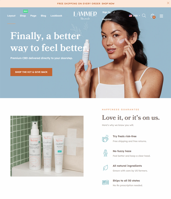 Shopify Themes For Selling Cosmetics, Skincare, Makeup, And Beauty Products feature