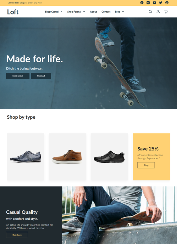 Shopify Themes For Shoe And Footwear Stores feature