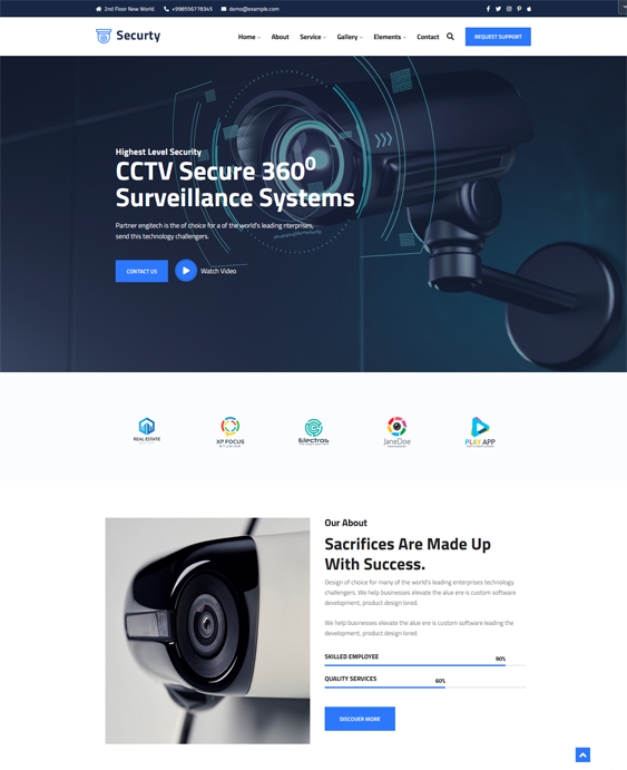 Security WordPress Themes feature