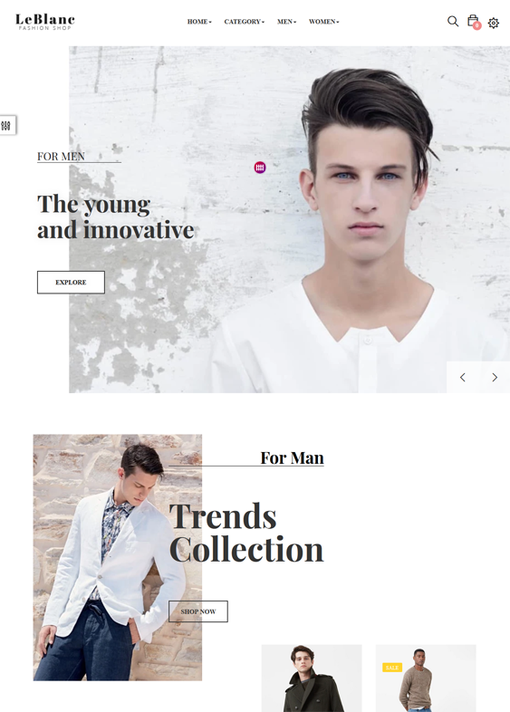 mens fashion shopify themes feature