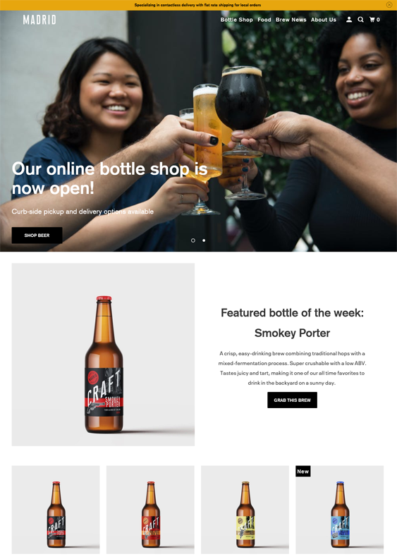 Shopify Themes For Online Drink And Beverage Stores